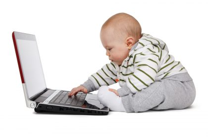 Booking so easy a baby working on a laptop can do it